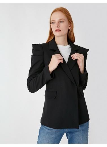 Koton Omuz Detayli Blazer Siyah